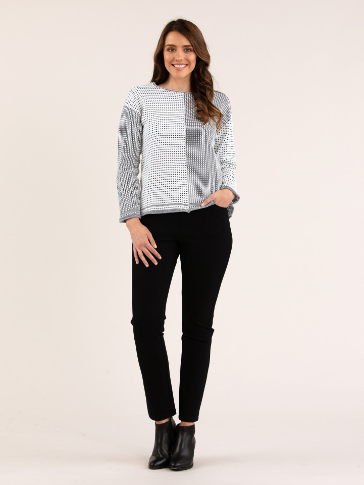 Spliced Tuck stitch Knit Jumper