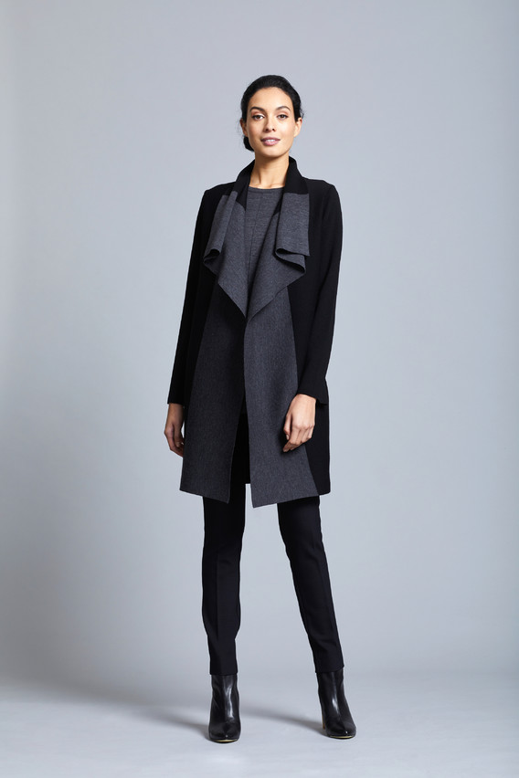 Merino two Tone Milano Coat