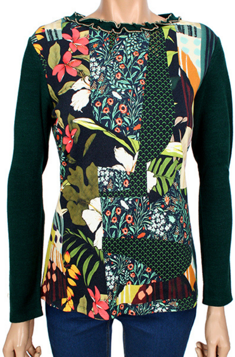 Kalisson Long Sleeved Top (Green)